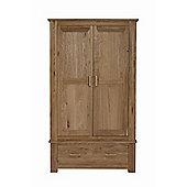 Kelburn Furniture Sasso Wiltshire 2 Door with Drawer Wardrobe