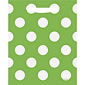 Green Polka Dot Party Bags - Plastic Loot Bags