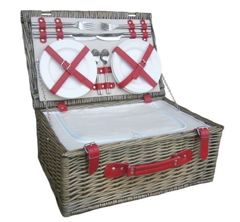 Wicker Valley 4 Person Hamper Picnic Basket