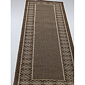 Dandy Kappa Chestnut Contemporary Runner Rug - 200cm x 67cm