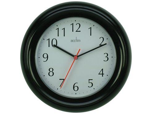 Acctim 21413 Wycombe Wall Clock Black