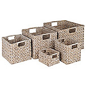 Pacific Lifestyle Water Hyacinth Oblong Storage (Set of 5)