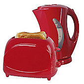 Home Essence Kettle and Toaster Set - Red