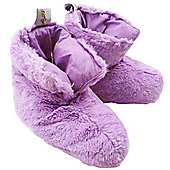 Lilac Furry Slipper Boots (Small)