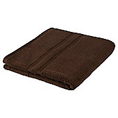 Tesco 100% Combed Cotton Bath Towel Chocolate