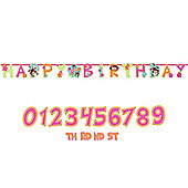 Monkey Love Party Add An Age Letter Banner - 3.65m (each)