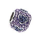 Amore & Baci Lilac Swarovski Crystal Heart Bead