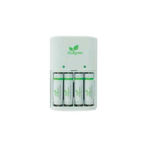 iGo 4 1.5 V AAA Rechargeable Batteries 4 Pack Green