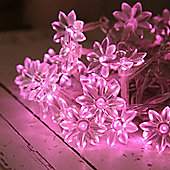 Indoor Sunflower Fairy Lights With 30 Pink LEDs