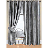 Jazz Ready Made Eyelet Curtain - Silver
