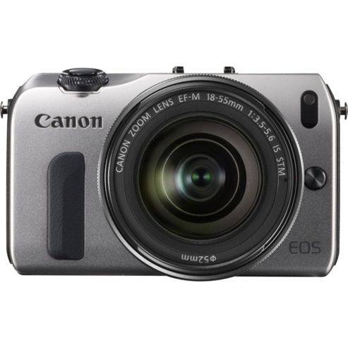 Canon EOS M (18MP) Digital SLR Camera 30 inch LCD (Silver) + EF-M 18-55 Lens