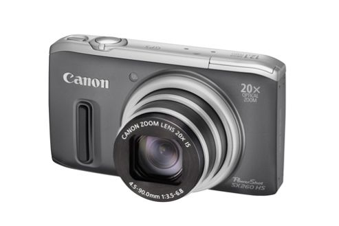 Canon PowerShot SX260 HS Digital Camera Grey with GPS