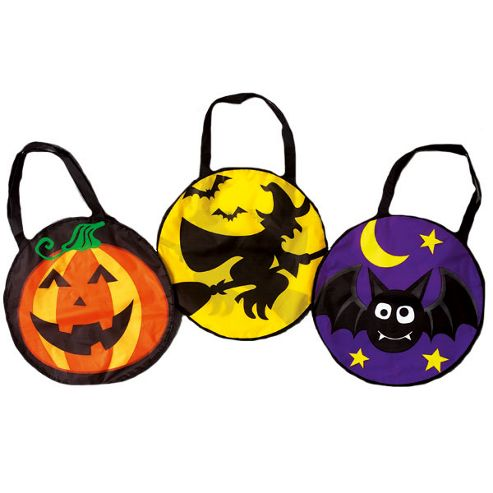 Halloween Party Round Trick or Treat Bag Assortment (each)