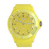 Tresor Paris Watch 018798 - Stainless Steel Bezel - Silicone Strap - Diamond Set Dial - 44mm - Yellow