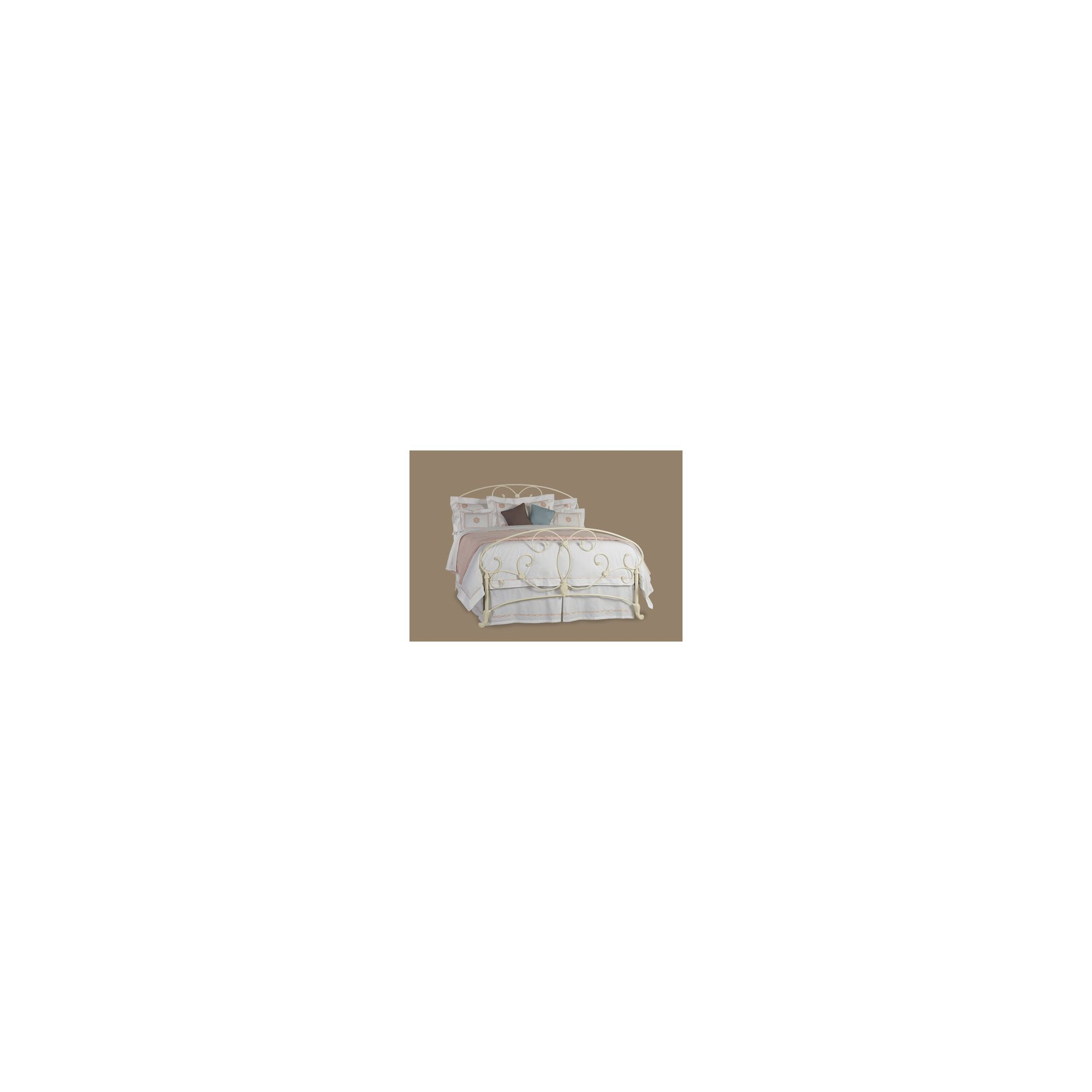 OBC Arigna Bed Frame - Double - Glossy Ivory at Tesco Direct