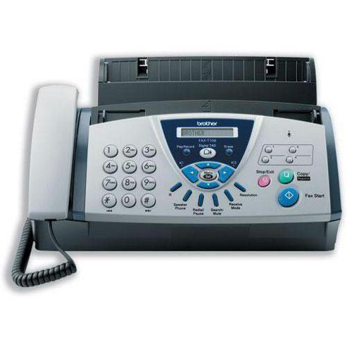 Brother Thermal Fax Machine T106 TAM 14.4Kbps Modem 0.25Mb Memory 2.7kg W302xD186xH132mm Ref FAXT106U1