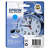 Epson Alarm Clock 27 DURABrite Ultra Ink Cartridge (Cyan)