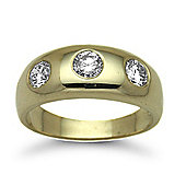 Jewelco London 9 Carat Yellow Gold 1ct Diamond Ring