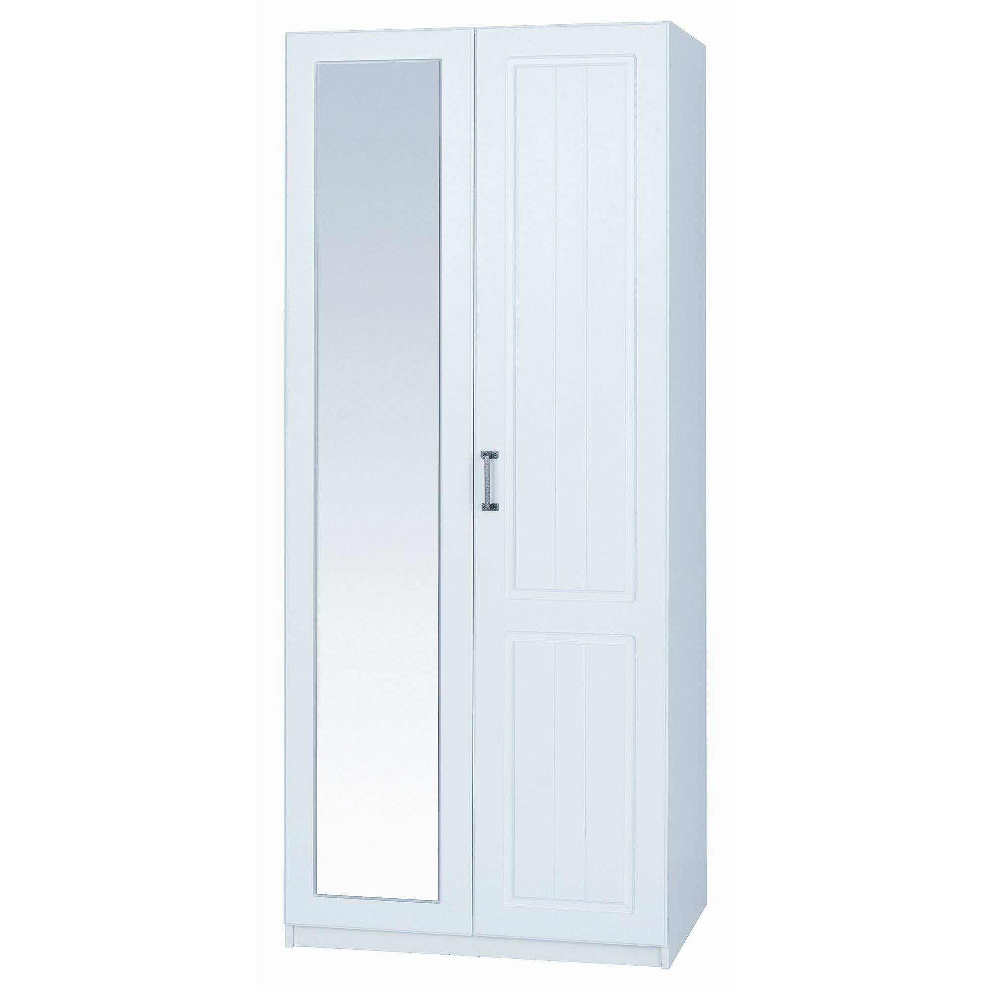 Alto Furniture Visualise Century Wardrobe with Mirror in Pearl White at Tesco Direct
