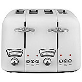 Delonghi Argento CT04 4 Slice Toaster - White
