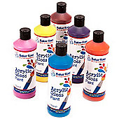 Water-Based Acrylic Paint for Crafts - 175ml Bottles (Pack of 6)