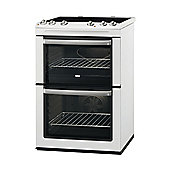 Zanussi ZCV668MW AA Rated Double Electric Cooker with 4 Zone Ceramic Hob