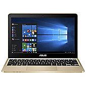"Asus E200HA 11.6"" Intel Atom 2GB RAM 32GB eMMC Gold Laptop Includes Office 365"