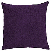 Plain Chenille Cushion, Plum