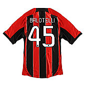 2012-13 AC Milan Home Shirt (Balotelli 45) - Kids - Red