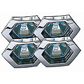 Paulmann Premium Line Hexa Four Downlight Set in Chrome