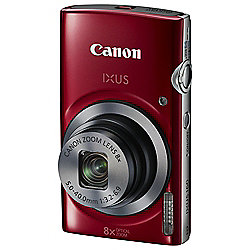 Canon IXUS 160 Digital Camera, 20MP, 8x Optical Zoom, Red