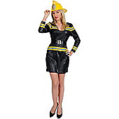Adult Fire Lady Costume Small