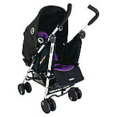 Petite Star Njoy Bubble Reversible Pushchair, Black & Purple.