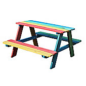 Bentley Garden Children's Wooden Multi-Coloured Bench