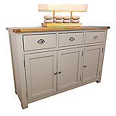 Aspen Painted Oak Sage Grey Large 3 Door 3 Drawer Sideboard