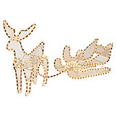 Reindeer and Sleigh Christmas Rope Light