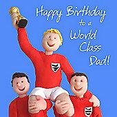 Holy Mackerel Happy Birthday Dad. Football Card. Greetings Card