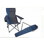 Summit Algarve Recliner Chair Blue