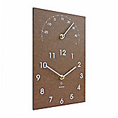 Brown Recycled Paper ECO Wall Clock & Garden Thermometer