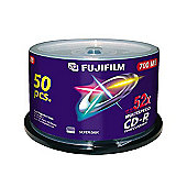 Fujifilm 700 MB 52x CD-R Speed Spindle 50 Pack