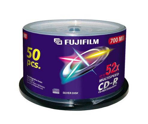Fujifilm 700 MB 52x CD-R Speed Spindle 50 Pack