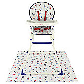 Red Kite Feed Me Compact Highchair, Ships Ahoy
