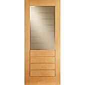 LPD Doors Salvador Oak Glazed Interior Door - 198.1 cm H x 68.6 cm W x 3.5 cm D