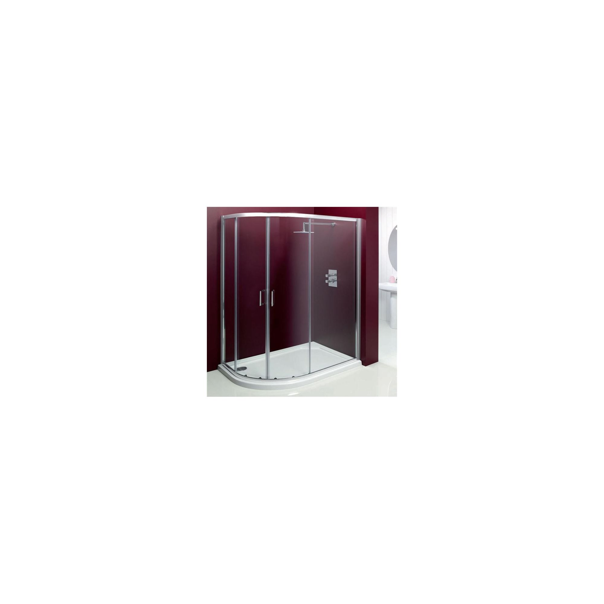 Merlyn Vivid Entree Offset Quadrant Shower Enclosure, 900mm x 760mm, Left Handed, Low Profile Tray, 6mm Glass at Tesco Direct