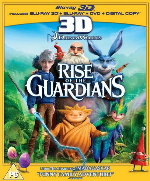 Rise Of The Guardians Blu-Ray 3D (Blu-Ray, 3D Blu-Ray, DVD + Digital Copy)