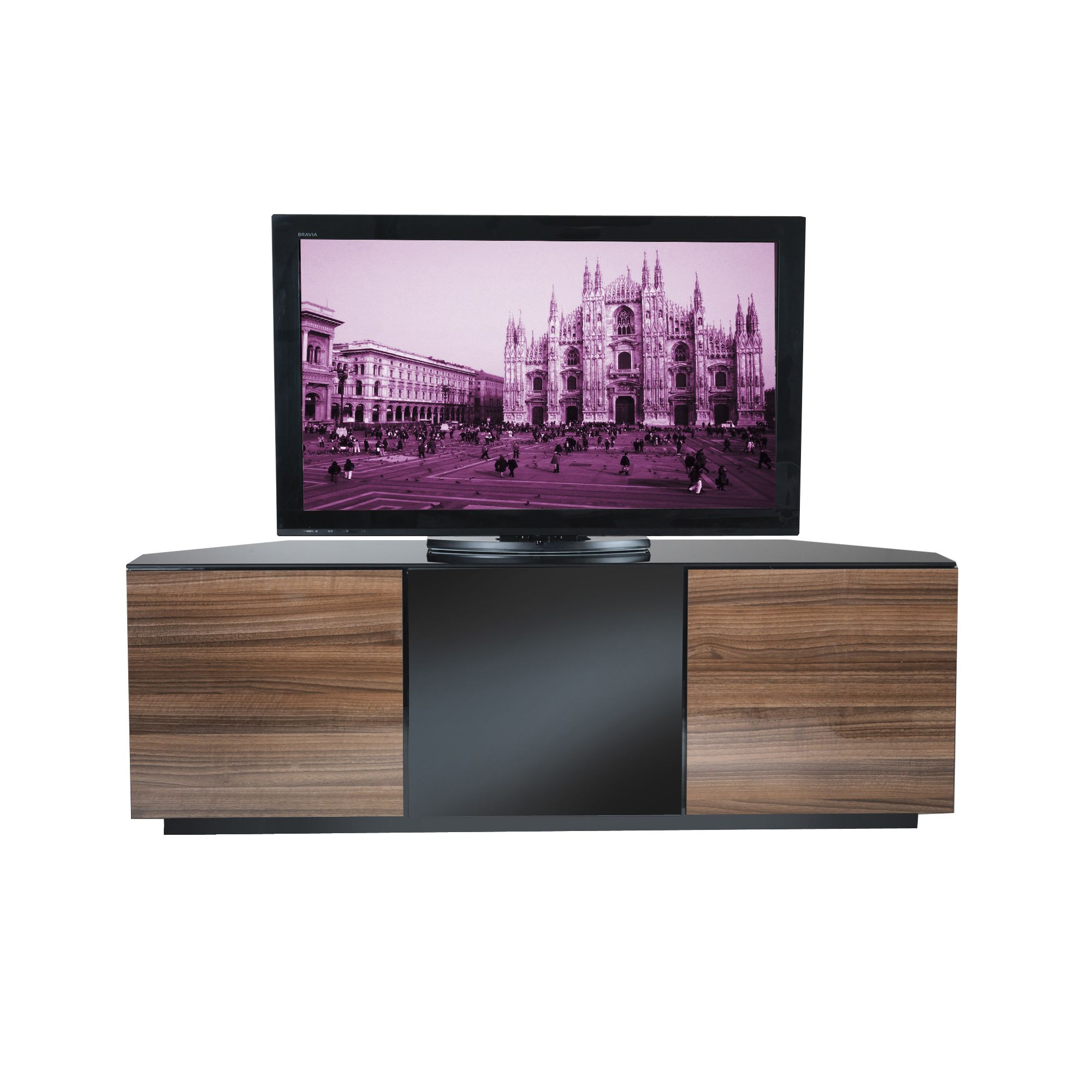 UK-CF City Scape Milan 60'' TV Stand - Walnut at Tesco Direct