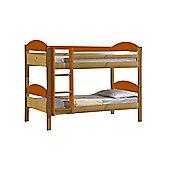 Maximus Bunk Bed 3ft Antique With Orange Details