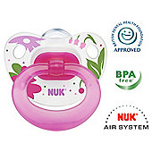 NUK Happy Days Soothers Size 2, Pink - 2 pack