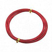 Red 1mm Aluminium Wire