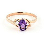 QP Jewellers 0.75ct Amethyst Classic Desire Ring in 14K Rose Gold - Size W 1/2